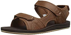 New Balance Men's Recharge Sandal, Brown, 9 D Us