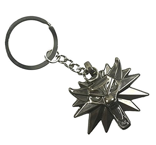 Price comparison product image The Witcher 3: Wild Hunt Keychain Geralt 3D Wolf Head Logo