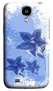 Brian114 Samsung Galaxy S4 Case, S4 Case - 3D Print Pattern Hard Cover for Samsung Galaxy S4 I9500 Ink Flowers Painting Extremely Protective Case for Samsung Galaxy S4 I9500
