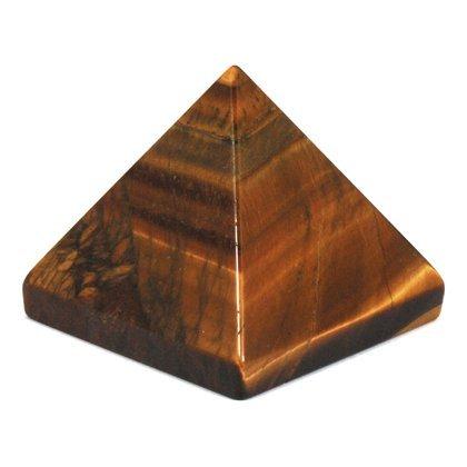 Luck Jet - Jet Tiger Eye Pyramid Approx. 1.25 - 1.5