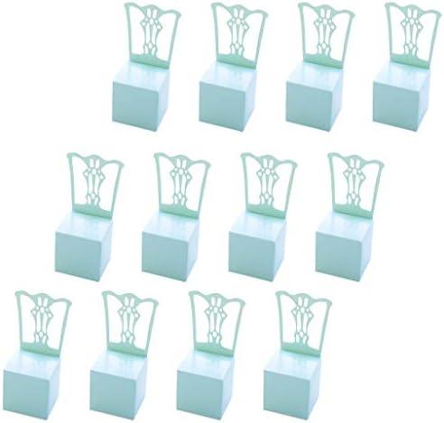 joyMerit ウェディングイベント用キャンディーボックスラップ誕生日パーティー好意の装飾ボックスラップ - 青