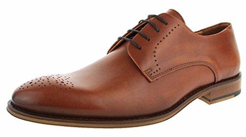 Coxx Zapatos de Cordones de Piel Lisa Para Hombre Marrón Coñac