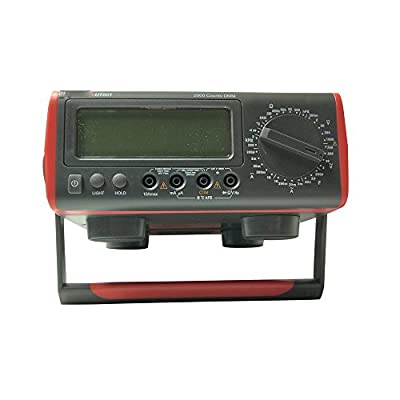 Digital Multimeter Thermometer,UT801 Bench Type LCD Display, Data Hold (item number #110137)