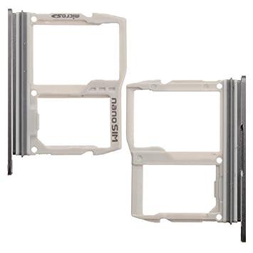 BisLinks® Reemplazo para LG G6 H870 Sim Micro SD Memoria Card Tray Slot Holder Negro H871 H872 LS993 Reemplazo Parte