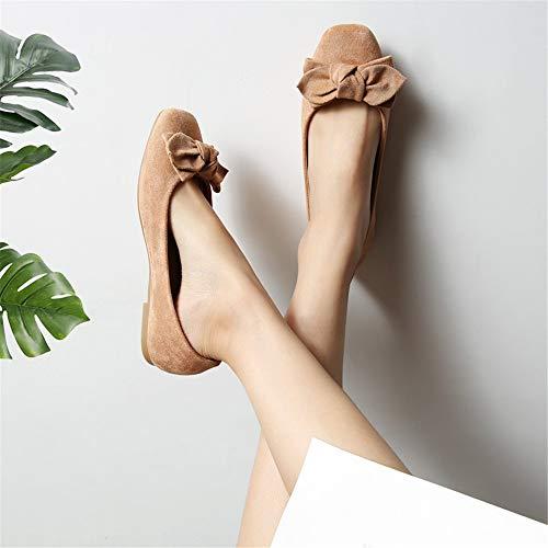 los La Ocasionales Calza Zapatos Mujeres cómodos de Planos Zapatos Trabajo Las UE de Ocasionales FLYRCX Moda señoras Embarazadas Las 39 Suave Suela EU Antideslizantes Calza 39 pqfwfUd