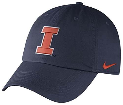 NCAA College Nike Heritage 86 Authentic Adjustable Performance Hat (One Size, Illinois Fighting Illini- (Illinois Fighting Illini Slide)