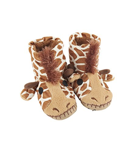 Little Blue House by Hatley Kids' Toddler Hi-top Slouch Animal Slipper, Giraffe, Small (5-7) by Little Blue House by Hatley