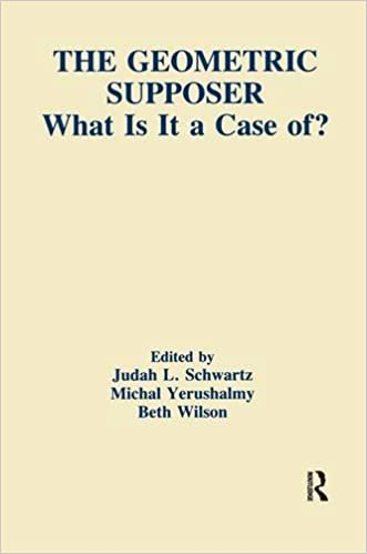 Book The Geometric Supposer: What Is It A Case Of? (Technology and Education Series)