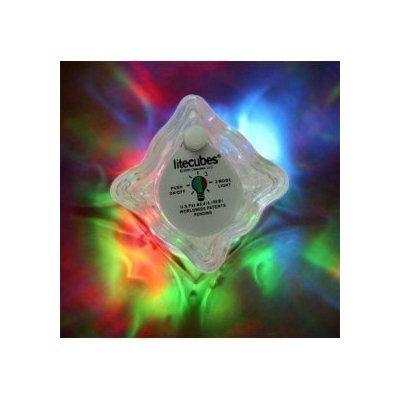 Four (4) Litecubes® Flashing LED Multi-color Freezable Ice Cubes / Rocks