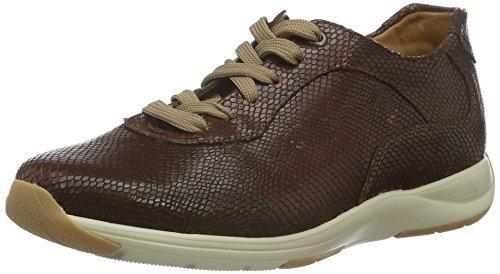 Ganter Gianna, Weite G, Zapatos de Cordones Brogue para Mujer Marrón - Braun (brandy 2800)