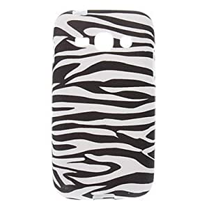 TOPAA Zebra-Stripe Pattern TPU Soft Back Cover Case for Samsung Galaxy ACE 3 S7272