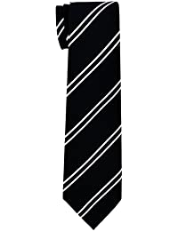 British Bar Striped Woven Boy's Tie - 8-10 years - Various Colors