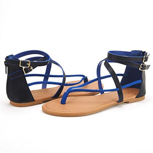 Dröm Par Crox Nya Kvinnor Öppen Tå Mode Kors Och Tvärs Valcre Fotled Remmar Sommardesign Platta Sandaler Svart