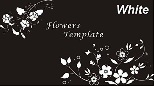 Morning glory Convolvulus Vine Ivy Crane Flower motif Sticker Simple Design (Crane Motif)