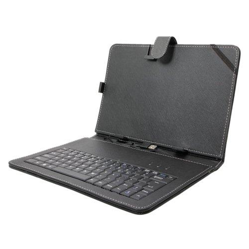 Android端末向けUSBキーボード付きレザーケース 10インチタブレットPC用