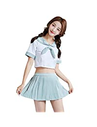 Erotic Underwear Pure and Lovely Student Sexy Uniform Student Wear Mini Skirt