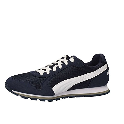 limestone bianco Scarpa Blu Peacoat Running St Puma white blu Mesh Runner xqwTF6Yz