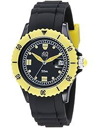 Unisex 40NINE03/BLACK50 Medium 40mm Analog Display Japanese Quartz Black Watch