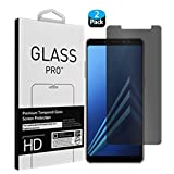 [2 Pack] Galaxy A8 Plus 2018 Screen Protectors, Folice Privacy Anti-Spy 9H Hardness