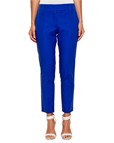 LE CHÂTEAU Slim Leg Crop Pant for Women,6,Cobalt