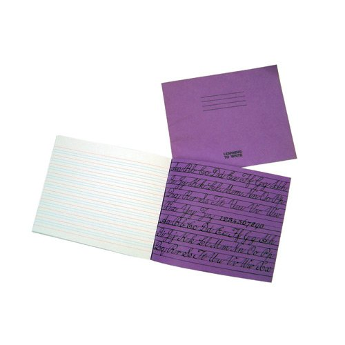 HANDWRITING EXERCISE BOOKS 4mm BLUE LINES with 16mm RED LINES 32 Page (Pack of 10)