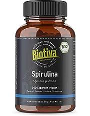 Spirulina Bio 300 tabletter 500 mg – premium organisk kvalitet – högdos tabletter – Arthrospira Platensis Alge – utan magnesiumstearat – flaska och kontrollerad i Tyskland (DE-ECO-005)