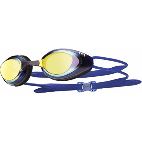 Racing Pro Goggles - BLACKHAWK Racing polarized goggle Gold Black Navy