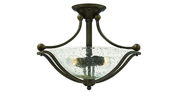 Hinkley Lighting Bolla 2 Light Foyer Semi-Flush Mount Olde Bronze 4651OB-CL