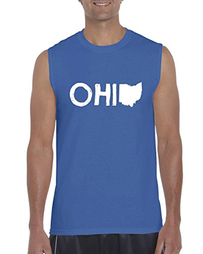 Ugo Ohio Map OH Ohio Cincinnati Map Bearcats Buckeyes Home of Ohio State Ultra Cotton Sleeveless Men's - Outlets Cincinnati Near Oh
