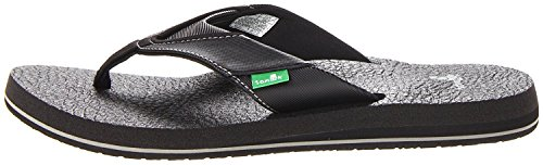 Sanuk Men's Beer Cozy Flip Flop Black 41 M EU / 8 D(M) US