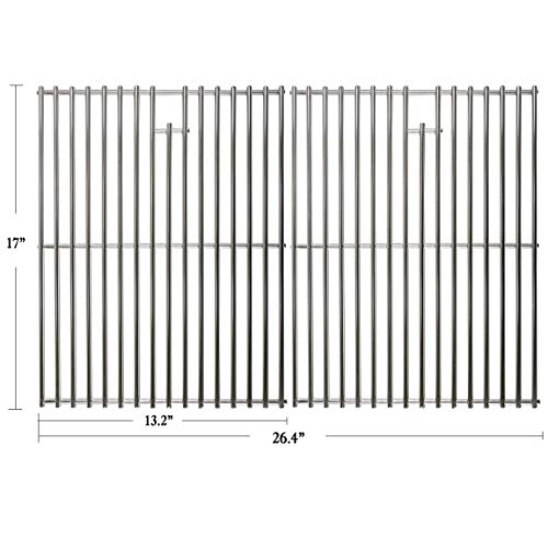 Hisencn BBQ Grill Replacement Stainless Steel 17 inch Cooking grids, Cooking grates Replacement Kit for Home Depot Nexgrill 720-0830H, 720-0830D, 720-0888, 720-0888n, Kenmore, Uniflame Gas Grils, 17