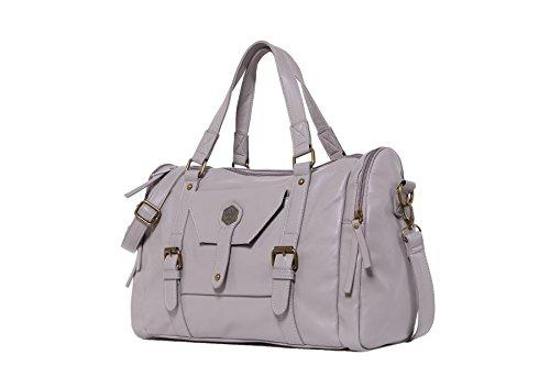 Gray Leather Designer A1 Shoulder Purse Bags Light Ladies Bags Messenger Handle Top Tote Handbags Women Satchel Bq6UwSxt