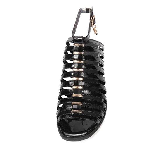 6cm 37 Shopping Femme anti 34 fine Black dérapant 41 chaussures haut fête Ceinture Confort Les Sandales Romaines Xie Talon Jours Tous RP5wgaxqa