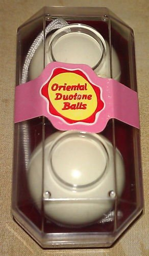 (SET OF ORIGINAL ORIENTAL DUOTONE CHINESE BALLS)