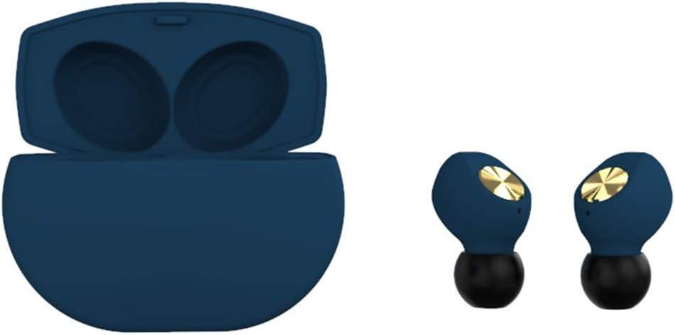 H/L Niñas Auricular De Bluetooth, Los Auriculares Inalámbricos Binaural Verdaderos Uso De Nano Materiales De Alta Pureza 6D Efecto De Sonido Envolvente [Totalmente Compatible],Azul