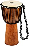 Meinl Djembe with Mahogany Wood - NOT MADE IN CHINA - 10' Medium Size Rope Tuned Goat Skin Head, 2-YEAR WARRANTY (HDJ4-M)