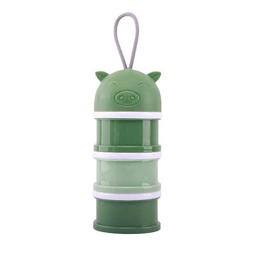 eaec1b7b9f5b Amazon.com: Baby Milk Powder Box Colorful Portable 3 Layer ...
