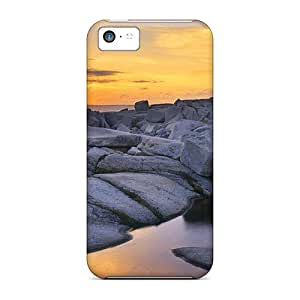 For YpD12729dlNf Lighthouse On The Rocks Protective Cases Covers Skin/iphone 5c Cases Covers