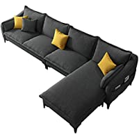 Double Nordic Style Technical Cloth Sofa