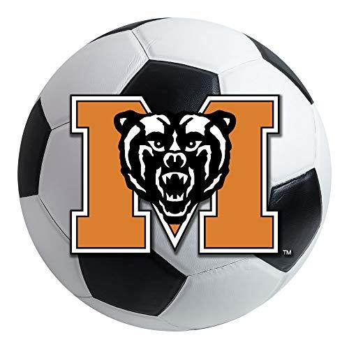 (FANMATS NCAA Mercer University Bears Nylon Face Soccer Ball Rug)