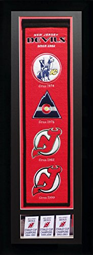 - NHL New Jersey Devils Legends Never Die Team Heritage Banner with Photo, Team Colors, 15
