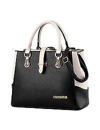 Nevenka Top Handle Totes for Women Leather Satchels Purse and Handbag Ladies Shoulder Bags