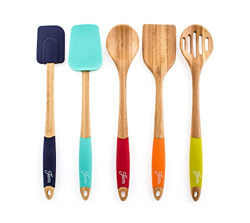 Fiesta 5-pc. Bamboo and Silicone Utensil Set