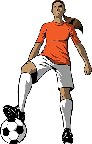 Winn Soccer Girl Wall Decal Cutout 46''x72'' by Wallhogs