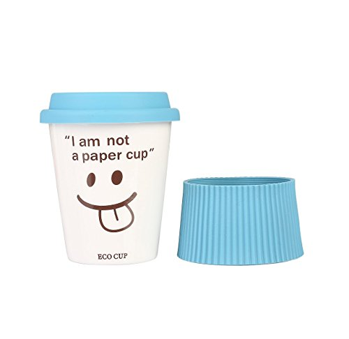 i am not a paper cup Eco friendly material use ceramic cups instead of your paper cups reduce the damage to our environment this tumbler just looks like a coffee paper cup, but it's made of porcelain, made from high-grade porcelain clay with more than 1260 degree heats, very premium and durable.