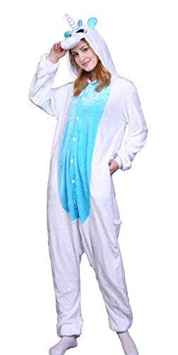 AooToo Womens Costumes Onesie Halloween Unisex Role Play Flannel Animal Pajamas(DJSB, (Minion Couples Costume)