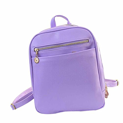 New Women Travel Purple Rucksack Girls Elevin Shoulder School Satchel Boys Leather Backpack TM Fashion Bag 5wpvqaI