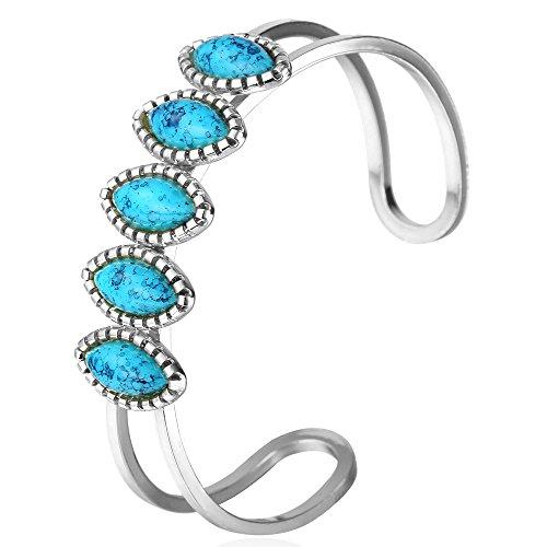 Gold Plated Turquoise Bracelet Bangle