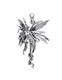Bling Jewelry Mythical Firefly Fairy .925 Sterling Silver Pendant