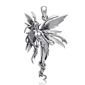 Bling Jewelry Firefly Hada colgante de plata Sterling
